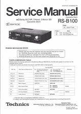 Technics Service Manual für RS-B 100