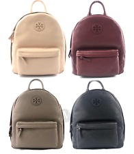 Tory Burch (40850) Pebbled Leather Zip Around Backpack Bag