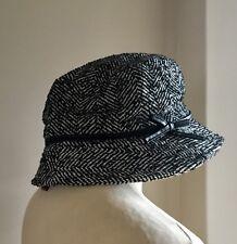*DENTS* Herringbone Tweedy Wool Blend Bucket Hat One Size BNWT