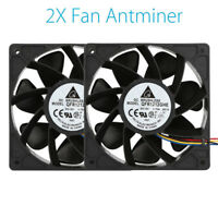 2x 6000RPM Cooling Fan Replacement 4-pin Connector For Antminer Bitmain S7 S9