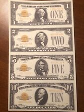 Copy Reproduction 1934 $5,000 US Currency Paper Money Specimen