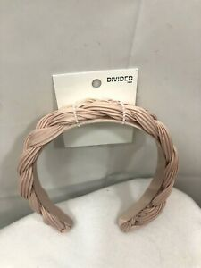 Divided H & M Pink Braided Headband One Size