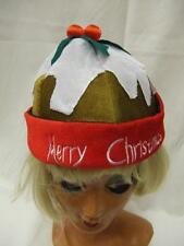 Pudding De Noël Chapeau ~ adultes taille unique ~ ~ ~ prune festive figgy ~ brun clair