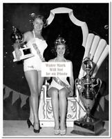"8/""X10/"" Marlene Schmidt Rare Miss Universe 1961-Publicity Press Photos #1-4"