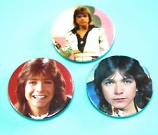Set of 3 David Cassidy button pin badges