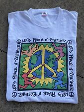 VINTAGE KEITH HARING T SHIRT FOTL SIZE XL 1993 ART TEE MADE IN USA 90s EARTH