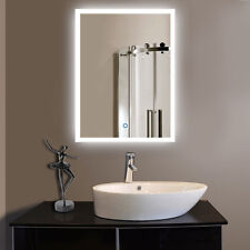 LED Bathroom Wall Mirror Illuminated Lighted Vanity With Touch Button