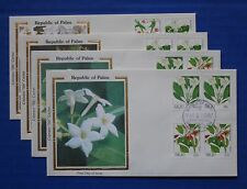"Palau: 1987-1988 Indigenous Flowers booklet stamps Colorano ""Silk"" FDCs"