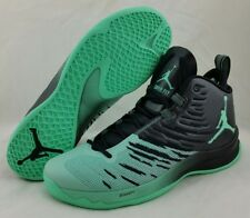 Air Jordan Super.Fly 5 Basketball Shoe Black/Green Glow 844677-032 Men's Size 10