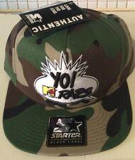 MTV yo raps Starter Snap back Cap MT-077-CAM-WHT-0S RRP £49.99 FREE U.K. P&P