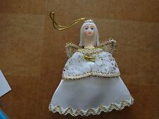 Russian fabric porcelain face  handmade  ornament christmas  angel #3
