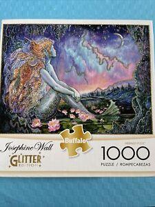 Josephine Wall nnew Image Mermaid Pool Glitter Edition 1000 Piece Jigsaw Puzzle
