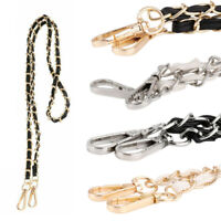 Metal w/PU Leather Bag Chain Strap Double Buckles Purse Handbag Bag Replacement