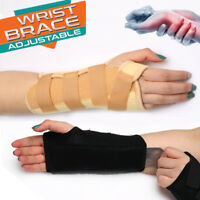Carpal Tunnel Wrist Brace Hand Support Forearm Splint Bar Sprain Arthritis Wrap