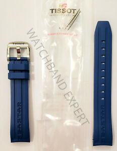 Original Tissot Seastar (FITS T066407A ONLY) Blue Rubber Watch Band Strap