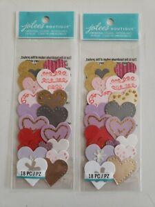 Jolees Boutique Hearts scrapbooking stickers Lot of 2