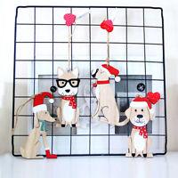 1PC Cute Dog Wood Christmas Ornaments Pendants Hanging Xmas Tree Ornament_ti
