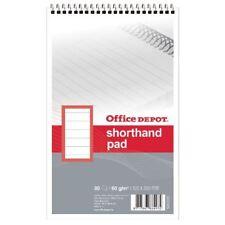 Nuevo taquigrafía Cuaderno Espiral 125 X 200mm 60gsm-Paquete de 10