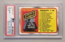 "1980 STAR WARS #131 PSA 10 GEM-MINT EMPIRE STRIKES BACK ""CHECKLIST 1-66"""