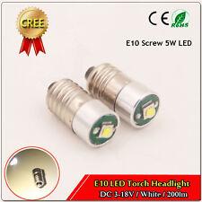 3xNEW E10 3V-18V 200LM Cluster LED Light Bulb Mini Screw Fitting Salt Lamp White