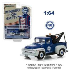 Greenlight 41050A 1956 Ford F-100 w Drop-in Tow Hook Pure Oil Diecast Truck 1:64