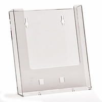 A5 WALL MOUNTED LEAFLET HOLDER BROCHURE FLYER DISPENSER DISPLAY CLEAR PLASTIC X1