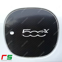 fiat 500x ADESIVI sportello serbatoio sticker decal logo carbonlook