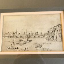 Fine Antique 18th Century Old Master Sketch Harbour Study Framed Rowley Gallery