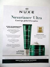 PUBLICITE-ADVERTISING :  NUXE Nuxuriance Ultra  2016 Cosmétique