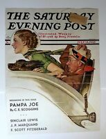 Authentic July 13, 1935 Saturday Evening Post Cover Norman Rockwell