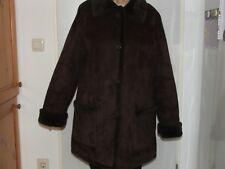 Damen Wildledermantel Winter Mantel Jacke braun Gr. 44 C&A gefüttert schön warm