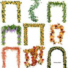 Artificial Plants Sunflower Greenery Garland Vine Silk Vines Map Leaf Wreath
