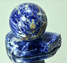 SODALITE Natural polished sphere 71 mm with stand ball #7815 - MADAGASCAR