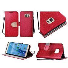 Custodie portafoglio rosso per cellulari e palmari Samsung