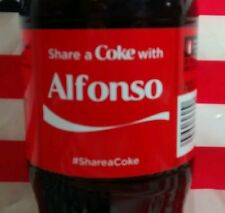 Share A Coke With Alfonso Limited Edition Coca Cola Bottle 2015 USA