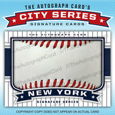 The Autograph Card Blank Signature cards 25 BASEBALL for New York Yankees Auto