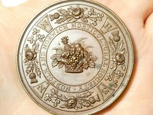 Antique Norfolk & Norwich Horticultural Society Prize Bronze Medal #T8M