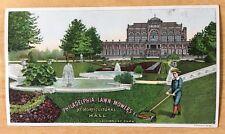 Victorian Advertising Trade Card PHILADELPHIA LAWN MOWERS 1887