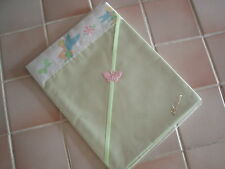 One Handmade Baby Pale Green Cotton Sheet-Tinkerbell satin Crib/moses