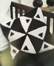 KNITTING PATTERN Geometric Patterned Cushion Cover Pillow Home Squares PATTERN