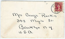 Canada Postages 3c Stamp Cover Digby Pines Hotel to USA Brooklyn NY Post (B2533
