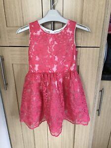 Rocha John Rocha Girls Pretty Dress Age 5 Years Vgc