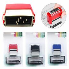 DIY Personalised Rubber Stamps Kit Self Inking Business Address Garage Name Tool