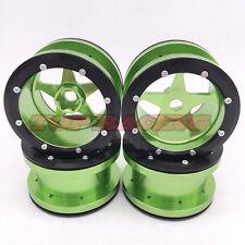 "4PCS Aluminum Beadlock 2.2"" Wheel Rim (Green) For 1/10 RC Crawler Axial Wraith"