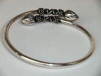 jetzt auch mit Karabiner Verschluss 925 Silbernes Männer Armband Fischgräte