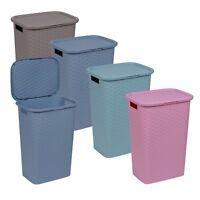60 Litre Rattan Laundry Basket Lid Washing Bin Hamper Storage Large Capacity NEW