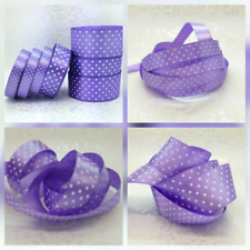22mtrs  <28 colors>  Polka Dot Satin Ribbons Dotty 12mm, 25mm, 38mm FREE POSTAGE