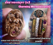 Magic Charming Mermaid batch2 Silver Takrud Phra Arjarn O Thai Amulet Love Charm