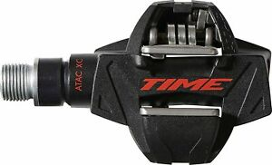 "Time ATAC XC 8 Pedals - Dual Sided Clipless, Carbon, 9/16"", Black/Red"