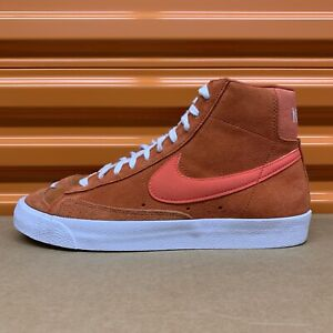 Nike Blazer Mid '77 Vintage Suede Mix Mantra Orange/Crimson Sz 10 (CZ4609 800)